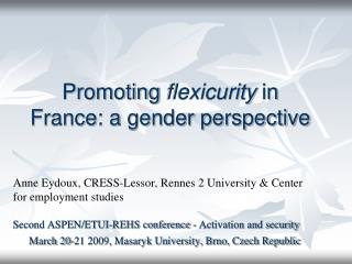 Promoting  flexicurity  in France: a gender perspective