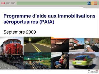 Programme d'aide aux immobilisations  aéroportuaires (PAIA)