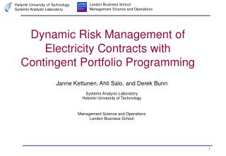 Dynamic Risk Management of Electricity Contracts with Contingent Portfolio Programming