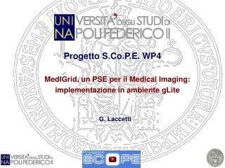 Progetto S.Co.P.E. WP4