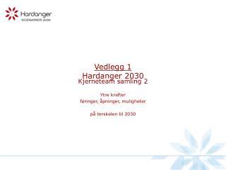 Vedlegg 1 Hardanger 2030