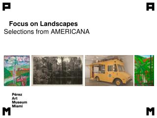 Focus on Landscapes  Selections from AMERICANA