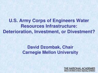 David Dzombak, Chair Carnegie Mellon University