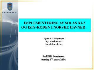 FARGIS Seminaret onsdag 17. mars 2004