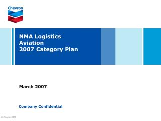NMA Logistics  Aviation 2007 Category Plan