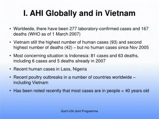 I. AHI Globally and in Vietnam