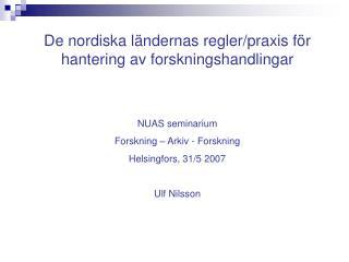 De nordiska l ndernas regler