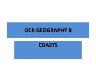 OCR GEOGRAPHY B