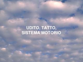 UDITO, TATTO, SISTEMA MOTORIO