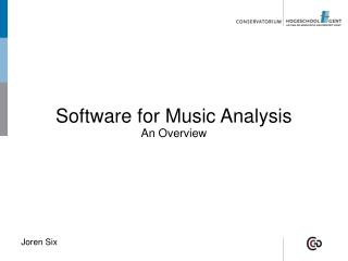 Software for Music Analysis An Overview