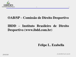 OAB/SP – Comissão de Direito Desportivo