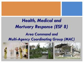 Health, Medical and  Mortuary Response ESF 8   Area Command and  Multi-Agency Coordinating Group MAC