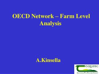 OECD Network – Farm Level Analysis