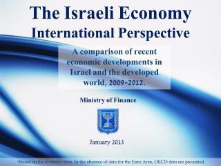 The Israeli Economy International Perspective