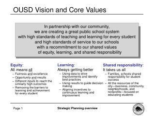 In partnership with our community,  we are creating a great public school system