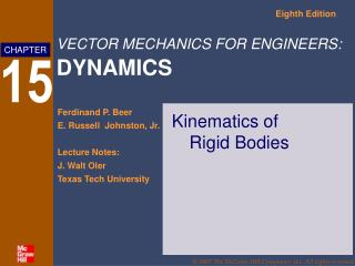 Kinematics of  Rigid Bodies