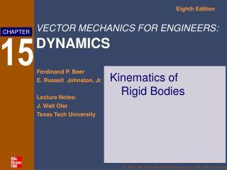 Kinematics of  Rigid Bodies