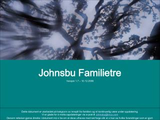 Johnsbu Familietre