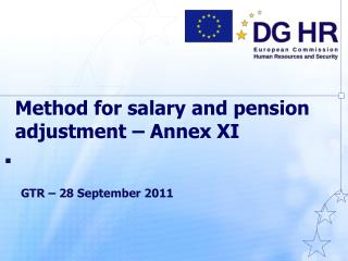Method for salary and pension adjustment   Annex XI