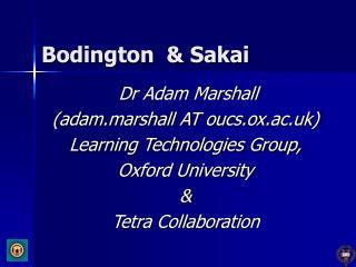 Bodington  & Sakai