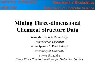 Mining Three-dimensional Chemical Structure Data