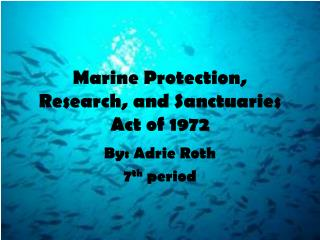 Marine Protection, Research, and Sanctuaries Act of 1972
