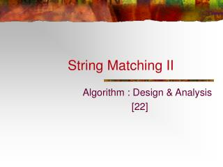 String Matching II