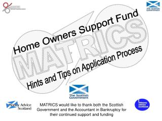 Home Owners Support Fund
