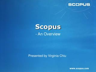 Scopus - An Overview