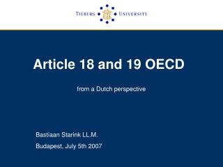 Article 18 and 19 OECD