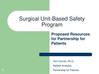 Surgical Unit-Based Safety Program
