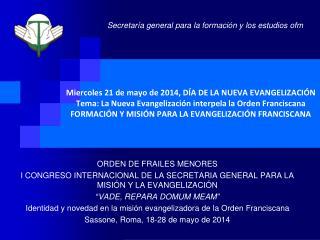 ORDEN DE FRAILES MENORES