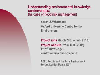 Understanding environmental knowledge controversies:  the case of flood risk management