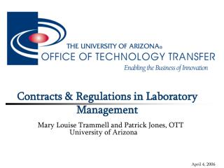 Contracts & Regulations in Laboratory Management