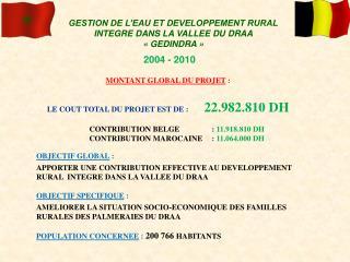 GESTION DE L'EAU ET DEVELOPPEMENT RURAL INTEGRE DANS LA VALLEE DU DRAA « GEDINDRA »