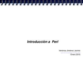 Introducción a  Perl