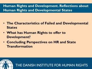 Human Rights and Development. Reflections about Human Rights and Developmental States