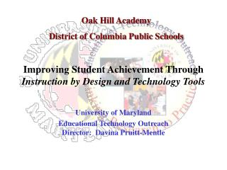 Improving Student Achievement Through  Instruction by Design and Technology Tools