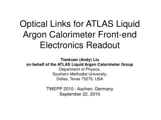Optical Links for ATLAS Liquid Argon Calorimeter Front-end Electronics Readout