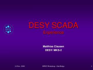 DESY SCADA Experience