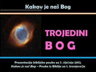 TROJEDiNi B O G