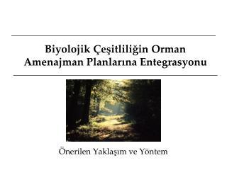 Biyolojik Çeşitliliğin Orman Amenajman Planlarına Entegrasyonu