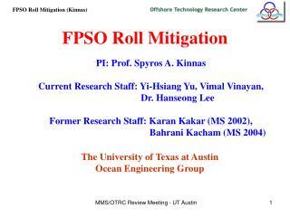 FPSO Roll Mitigation