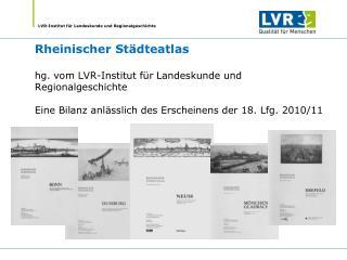 Rheinischer Städteatlas  gegründet 1972