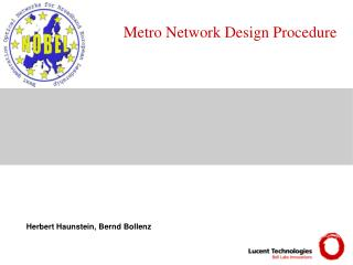 Metro Network Design Procedure