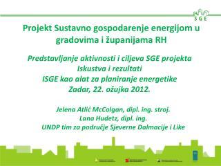 Projekt Sustavno gospodarenje energijom u gradovima i županijama RH