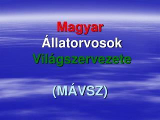 Magyar Állatorvosok Világszervezete (MÁVSZ)