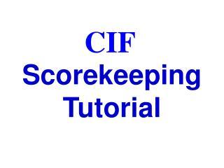 Scorekeeping Tutorial