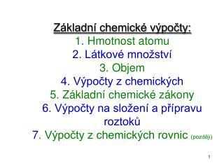 1. Hmotnost atomu