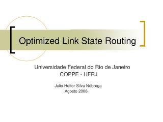 Optimized Link State Routing